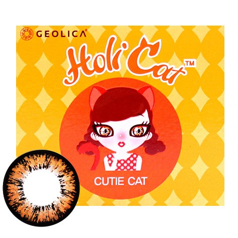 CUTIE CAT BROWN (HOLICAT) Monthly (2EA)GEOLENSPOP