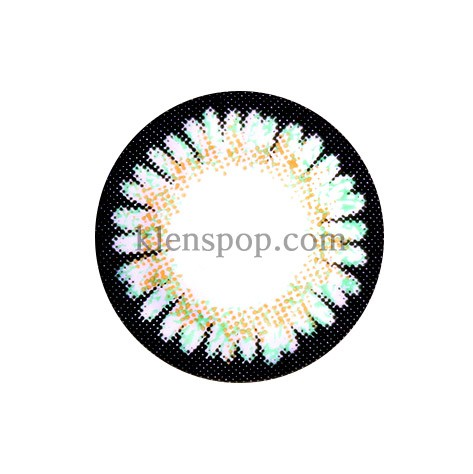 BUNNY 3 COLOR SWEET3 GREEN Graphic Diameter 14.5mmLENSPOPLENSPOP