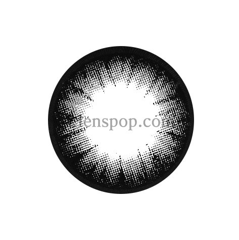 CIRCLE COLOR GRAY Graphic Diameter 13.5mmM.I CONTACTLENSPOP
