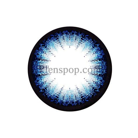 CIRCLE COLOR BLUE Graphic Diameter 13.5mmM.I CONTACTLENSPOP