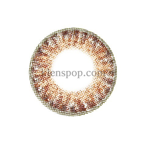 ASHLEY 3COLOR BROWN Graphic Diameter 14mmLENSPOPLENSPOP