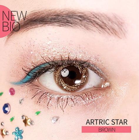 ARTRIC STAR BROWN (2EA) MONTHLY 13.0mmNEW BIOLENSPOP