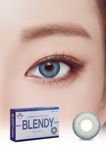 Blendy Blue (1EA) (Buy 1 Get 1 Free) (SILICONE HYDROGEL) / 3MONTHLY / 13.5mmLENSVERYLENSPOP