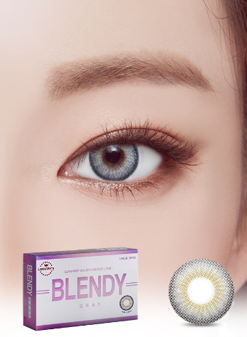 Blendy Gray (1EA) (Buy 1 Get 1 Free) (SILICONE HYDROGEL) / 3MONTHLY / 13.5mmLENSVERYLENSPOP