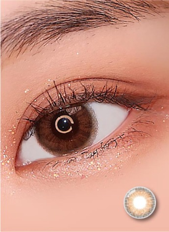 Iwwinka Brown (2pcs) ( Buy  1 Get 1 Free ) 1Monthly G.DIA 13.6mmLENSRANGLENSPOP
