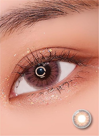 Iwwinka Pink Brown (2pcs) ( Buy  1 Get 1 Free ) 1Monthly G.DIA 13.6mmLENSRANGLENSPOP
