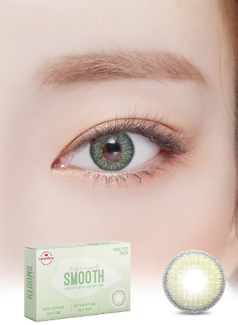Smooth Green (1EA) (Buy 1 Get 1 Free)  / 3MONTHLY / 12.8mmLENSVERYLENSPOP
