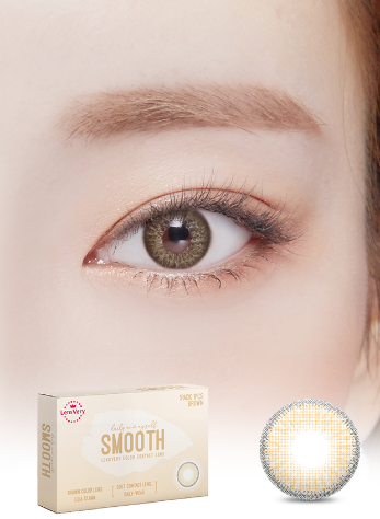 Smooth Brown (1EA) (Buy 1 Get 1 Free)  / 3MONTHLY / 12.8mmLENSVERYLENSPOP
