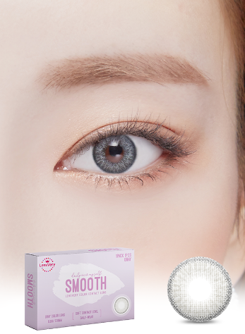 Smooth Gray (1EA) (Buy 1 Get 1 Free)  / 3MONTHLY / 12.8mmLENSVERYLENSPOP